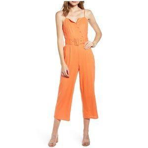 NWT Anthro Moon River Belted Crop Jumpsuit